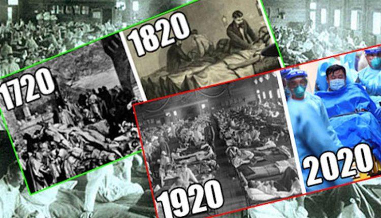 1720 πανούκλα, 1820 χολέρα, 1920 Ισπανική Γρίπη, 2020 Κοροναϊός ...